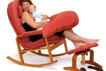 Rocker with Nursing Kit / The Brigger Rocker With Nursing Kit is the most comfortable rocking chair for nursing mothers. The gentle rocking motion and ergonomically contoured cushions combine to create a healthy and cozy place for you and your baby.