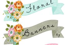 BANNERS, BUTTONS & BACKGROUNDS / Digital banners, buttons and backgrounds for websites and blogs