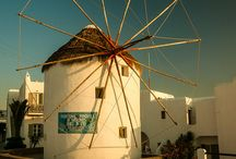 Windmill in Greece / Here in Greece on the Cyclades Islands we have white windmills. They are just simple and brilliant