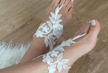 кружевная и вязаная красота для ног, рук и т.д