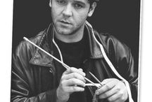 men with sticks / Men who knit or crochet and what they make.