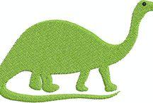 Dinosaur digital embroidery designs / Dinosaur digital embroidery designs