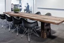 THORS-DESIGN : Corporate interiors / THORS DESIGN offer design solutions for corporate interiors. All THORS furniture is bespoke, sustainable and created by hand from reclaimed wood from decommissioned Danish wharves  #Sustainabledesign #conferencetable
