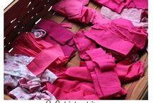 rohožka z pásikov z tričiek