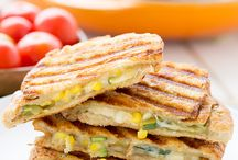 vegetarian sandwiches and lunches