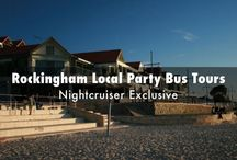 Rockingham Party Bus / Famous Nightcruisers have been serving the Rockingham and Port kennedy areas for sometime. Both local and Perth Nightlife tours https://www.facebook.com/pages/Nightcruiser-Party-Bus-Tours-Rockingham/635913749844255?ref=hl