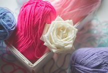 Colored wool / wool, colored, pink, rose, tiffany
