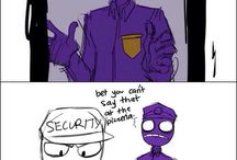 Purple Guy and Mike