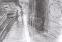 Blanco y negro (mis dibujos)
