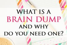 "{BRAIN DUMP} Get it OUT of Your Head & On to Paper! / A brain dump is a funny term that represents a powerful productivity and stress release technique. David Allen said it best ""Your Brain is for Processing, Not Storage."" Learn how to make the most of this technique with these tips and strategies."