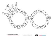 Coloring Pages / Fun coloring pages for kids who wear glasses, eye patches, contacts or are visually impaired.
