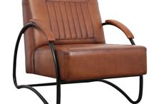 Stoere industriële fauteuils
