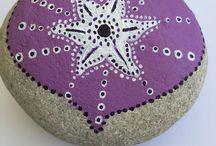 SEA / Hand painted Sea Pebbles