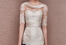 lace creams dress