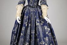 Dresses from around 1845 / dresses from around 1845, which fabrics, lace, silk, cotton
