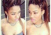 #boxbraids #updo / by Kay Clay