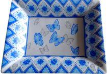 Les papillons en porcelaine - butterfly / Valse de papillons sur la porcelaine.