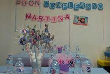 birthday Frozen / #compleanno #addobbi fai da te Le mie creazioni #frozen #ideas #party #birthday #dessert #table