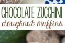 Chocolate zucchini donut muffins