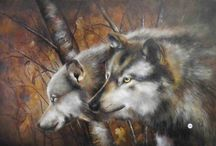 Oil painting of animals