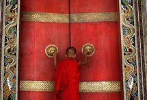 Doors stimulating your imagination / Different doors with hidden, mystical secrets behind them
