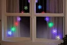 Xmas (window) lights & deco / Christmas decorations with or without lights