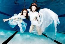 totally did it underwater .. / underwater fashion photography by Shirlaine forrest