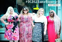 #IGIGILoveYourself / IGIGI's first body positive plus size campaign using #realgirls instead of models.  / by IGIGI