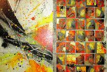 """""""MULTIVISIONI"""" - Personale di Paolo Piria /                           (25 aprile - 25 maggio 2014)  Paolo Piria nasce ad Alghero nel 1968. Nelle opere, dove è assente """"l'ovvietà accademica"""", l'artista attraverso l'uso sapiente di colori e materia riesce a dare vita a soluzioni formali originali, ad un microcosmo pulsante analogo al groviglio dell'esistenza, frutto sicuramente di scelte intime ed emotive."""