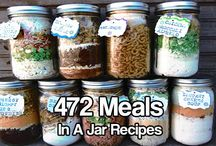 Meals in a Jar / various meals in a canned jar