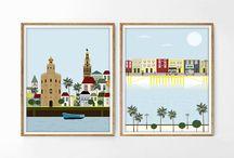 Physical city illustration