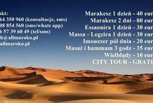 Wycieczki fakultatywne po Maroku: Agadir, Marakesz