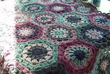 Hexagon crochet blankets