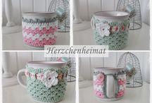 crochet cubre tazas