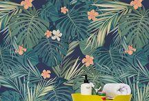 Tropical eden mural