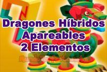 Dragones Hibridos Apareables de 2 Elementos