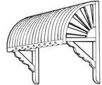 bullnose awnings