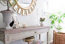 Console Table / Ideas for a chic console table decoration...  http://evimicinhersey.blogspot.com/2013/08/dresuar-dekorasyonunda-puf-noktalar.html#.Ukf7A4bIb74