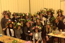 NEFE Flower Crown Class - 2015 / North East Floral Expo hosted a Flower Crown Class taught by J Schwanke of uBloom... the participants were able to create their own Flower Crown using a wide variety of flowers...
