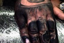 Hand and finger tattoos