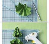 sapins en papier