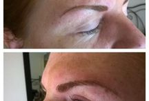 Eyebrows Embroidery, Microblading / 3D eyebrows Embroidery semi permanent makeup. Technic that uses a special hand tool to create very natural looking eyebrows.