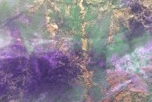 Lisa Walton -Art Fabrics / Unique art fabrics created with multiple techniques. They are available at my website  Http://www. Dyedheaven.com/store