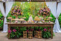 mesa de bolo rustico