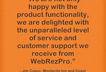 Testimonials / Here are some testimonials from our very satisfied clients! #webrezpro #testimonials #cloud #hotels