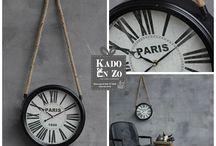 Klokken / Wees lekker op tijd! Nou dat lukt zeker met zo'n trendy klok van Kado en Zo Balk. http://kadoenzobalk.jouwweb.nl/