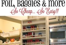 Organization / Household organizing tips and tricks! Keep everything clutter-free and in its proper place!
