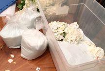 Use salica gel dried flowers