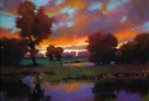 Art - landscape / Landscape technique.  / by Lily Heart