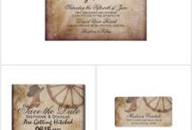 Rustic wedding invitation sets <3 / very nice for weddings